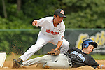 Pete Papcun gets an out at second base during the Brick, New Jeresy v Tampa, Florida game at the 2009 Cal Ripken World Series