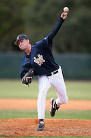 February 22, 2009:  Pitcher Jesse Darby (14) of West Virginia University during the Big East-Big Ten Challenge at Naimoli Complex in St. Petersburg, FL.  Photo by:  Mike Janes/Four Seam Images
