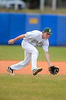 University of Alabama at Birmingham Blazers third baseman Tanner Bryant #18 during a game against the Dartmouth Big Green at Chain of Lakes Stadium on March 17, 2013 in Winter Haven, Florida.  Dartmouth defeated UAB 4-0.  (Mike Janes/Four Seam Images)