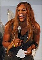 SERENA WILLIAMS MODELING NIKE TENNIS OUTFITS AT THE NIKETOWN STORE, NEW YORK CITY 08/27/2004<br /> Photo By John Barrett/PHOTOlink /MediaPunch
