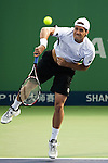 SHANGHAI, CHINA - OCTOBER 13:  Tommy Haas of Germany serves against his compatriot Benjamin Becker during day three of 2009 Shanghai ATP Masters 1000 at the Qi Zhong Tennis Centre in Shanghai. Photo by Victor Fraile / The Power of Sport Images