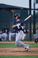 AZL Padres 2 Jarryd Dale (9) at bat during an Arizona League game against the AZL White Sox on June 29, 2019 at Camelback Ranch in Glendale, Arizona. The AZL Padres 2 defeated the AZL White Sox 7-3. (Zachary Lucy/Four Seam Images)