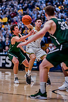 12 March 2019: University of Vermont Catamount Guard Robin Duncan, a Freshman from Evansville, IN, in action against the Binghamton University Bearcats at Patrick Gymnasium in Burlington, Vermont. The top-seeded Catamounts advanced to their fourth-straight America East conference championship game, defeating the Bearcats 84-51. Mandatory Credit: Ed Wolfstein Photo *** RAW (NEF) Image File Available ***