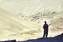 Iran 1982.View from the hospital on the village of Khalwe, on the road between Sardacht and Mahabad