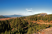 A view of the northern region of Crater Lake National Park, Oregon.