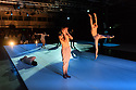 """London, UK. 11.10.2017. The Royal Ballet and The National Ballet of Canada present choreographer, Robert Binet's, """"The Dreamers Ever Leave You"""" at the Printworks, in London's Docklands. The dancers are:  Alexander Campbell, Skylar Campbell, Hannah Fischer, Spencer Hack, Emma Hawes, Francesca Hayward, Ryoichi Hirano, Rui Huang, Harrison James, Elena Lobsanova, Yasmine Naghdi, Heather Ogden, Felix Paquet. Piano played by Lubomyr Melnyk. Photograph © Jane Hobson."""