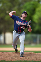 Minnesota Twins Kohl Stewart (38) during a minor league Spring Training intrasquad game on March 15, 2016 at CenturyLink Sports Complex in Fort Myers, Florida.  (Mike Janes/Four Seam Images)