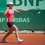 Varvara Lepchenko (USA) wins at Roland Garros in Paris, France on June 2, 2012