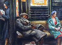 "American Painters:  Reginald Marsh--Why Not Use the ""L""? , 1930.  Tempera.  Whitney Museum of American Art, 1961."