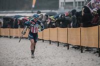Katie Compton (USA/KFC Racing p/b Trek/Panache)<br /> <br /> women's elite race<br /> Lampiris Zilvermeercross Mol / Belgium 2017