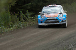 14th September 2012 - Devils Bridge - Mid Wales : WRC Wales Rally GB SS6 Myherin stage : Mads Osberg (NOR) and co driver Jonas Andersson (SWE) in their Ford Fiesta RS WRC.