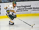9 January 2009: University of Vermont Catamounts' defenseman Dan Lawson, a Sophomore from Oak Forest, IL, in action during the first game of a weekend series against the Boston College Eagles at Gutterson Fieldhouse in Burlington, Vermont. The Catamounts scored with one second remaining in regulation time to earn a 3-3 tie with the visiting Eagles. Mandatory Photo Credit: Ed Wolfstein Photo