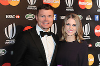 Brian O'Driscoll with his wife Amy Huberman at the World Rugby Awards 2015  - 01/11/2015 - Battersea Evolution, London<br /> Mandatory Credit: Rob Munro/Stewart Communications