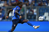 8th September 2021; Mapei Stadium, Città del Tricolore, Reggio Emilia, Italy: FIFA World Cup 2022 qualification, Italy versus Lithuania:  The goal scored by Moise Kean for 4-0 in minute 29