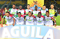 IBAGUÉ-COLOMBIA , 07 -11-2018 . Formación del Once Caldas ante el Deportes Tolima  durante partido por la fecha 14 de la Liga Águila II 2018 jugado en el estadio Manuel Murillo Toro de la ciudad de Ibagué./ Team of Once Caldas agaisnt of DeportesTolima  during the match for the date 14 of the Aguila League II 2018 played at Manuel Murillo Toro  stadium in Ibague city. Photo: VizzorImage/ Juan Carlos Escobar / Contribuidor