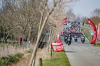 peloton rolling into De Moeren<br /> <br /> 45th Oxyclean Classic Brugge-De Panne 2021 (ME/1.UWT)<br /> 1 day race from Bruges to De Panne (204km)<br /> <br /> ©kramon