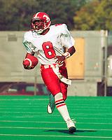 Danny Barrett Calgary Stampeders quarterback 1989. Copyright photograph Scott Grant