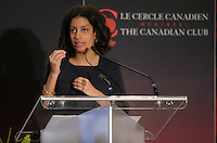 Montreal, CANADA, April 20, 2015.<br /> <br /> Dominique Anglade, President & CEO of Montreal International, deliver a speech to the Canadian Club of Montreal