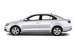 Driver side profile view of a 2013 Volkswagen Jetta Comfortline Hybrid Sedan2013 Volkswagen Jetta Comfortline Hybrid Sedan