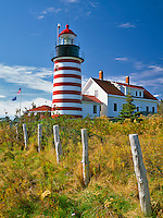 West Quoddy Head Lighthouse near Lubec, Maine
