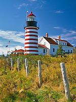 West Quoddy Head Lighthouse near Lubec, Maine