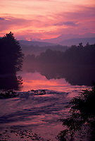 Twilight on the Pemigewasset River. Lincoln, New Hampshire.