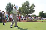 Padaig Harrington tees off to start his round during  Day 2 at the Dubai World Championship Golf in Jumeirah, Earth Course, Golf Estates, Dubai  UAE, 20th November 2009 (Photo by Eoin Clarke/GOLFFILE)