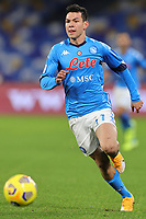 Hirving Lozano of SSC Napoli during the Italy Cup football match between SSC Napoli and Empoli FC at stadio Diego Armando Maradona in Napoli (Italy), January 13, 2021. <br /> Photo Cesare Purini / Insidefoto