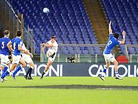 31st October 2020, Olimpico Stadium, Rome, Italy; Six Nations International Rugby Union, Italy versus England;  Owen Farrell (England) kicks a penalty