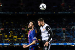 Sergio Busquets Burgos of FC Barcelona (L) in action against Ruben Miguel Nunes of Valencia CF (R) during the Copa Del Rey 2017-18 match between FC Barcelona and Valencia CF at Camp Nou Stadium on 01 February 2018 in Barcelona, Spain. Photo by Vicens Gimenez / Power Sport Images