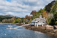 Waterfront home at Seal Harbor, Mount Desert Island, Maine, USA
