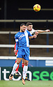Jon Ashton of Stevenage and Kyle Vassell of Peterborough contest a header<br />  - Peterborough United v Stevenage - Sky Bet League One - London Road, Peterborough - 23rd November 2013. <br /> © Kevin Coleman 2013