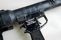 - war material seized by Italian soldiers,  antitank rockets launcher RPG....- materiale bellico sequestrato dai militari italiani, lancia razzi anticarro RPG....