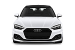 Car photography straight front view of a 2021 Audi A5-Sportback Design 5 Door Hatchback Front View