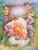 Ron, CUTE ANIMALS, Quacker, paintings, ducks, butterfly(GBSG8082,#AC#) Enten, patos, illustrations, pinturas
