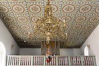 Orgel in der romanischen Peders Kirke 12.Jh. bei Pedersker auf der Insel Bornholm, Dänemark, Europa<br /> Organ in Peders Kirke (12.c.) near Pedersker, Isle of Bornholm Denmark