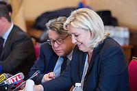 GILBERT COLLARD - MARINE LE PEN DONNE UNE CONFERENCE DE PRESSE AU PALAIS BOURBON