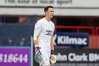 25th September 2021; Dens Park, Dundee, Scotland: Scottish Premiership football, Dundee versus Rangers; Rangers goalkeeper Jon McLaughlin