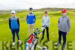 Dara Brown, Georgie O'Donnell, Archie Walsh and Ben Corridan from Ballydonoghue enjoying a game of golf at the Ballybunion Golf Club on Saturday