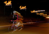 COLOMBIA. 16-08-2014. Andres Camilo Mendoza ciclista durante la contrarreloj individual nocturna de 17.5 Km en la penúltima etapa de la Vuelta a Colombia 2014 en bicicleta que se cumple entre el 6 y el 17 de agosto de 2014. / Andres Camilo Mendoza cyclist during the night individual time trial of 17.5 Km in the penultimate stage of the Tour of Colombia 2014 in bike holds between 6 and 17 of August 2014. Photo:  VizzorImage/ José Miguel Palencia / Str