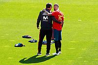 Spain's coach Julen Lopetegui (l) with Sergio Ramos during training session. June 5,2018.(ALTERPHOTOS/Acero) /NortePhoto.com NORTEPHOTOMEXICO