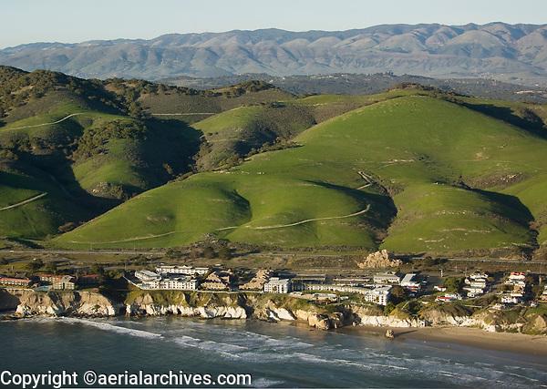 aerial photograph of coastal San Luis Obispo county, California