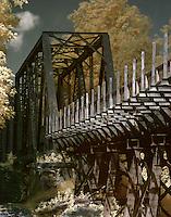 Repurposed abandoned railroad trestle on Palmetto Trail