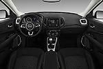 Stock photo of straight dashboard view of a 2018 Jeep Compass Sport 5 Door SUV