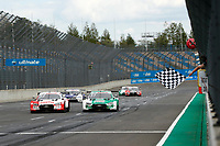 23rd August 2020, Lausitz Circuit, Klettwitz, Brandenburg, Germany. The Deutsche Tourenwagen Masters (DTM) race at Lausitz;  Rene Rast GER, Audi Team Rosberg, Audi RS5 DTM and Nico Mueller SUI, Audi Sport Team Abt Sportsline, Audi RS5 DTM
