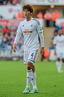 Saturday 4th  October 2014 Pictured: Ki Sung-Yueng of Swansea City<br /> Re: Barclays Premier League Swansea City v Newcastle United at the Liberty Stadium, Swansea, Wales,UK