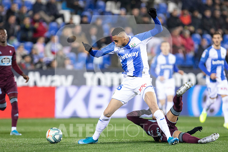 CD Leganes's  Youssef En-Nesyri and RC Celta de Vigo's  during La Liga match 2019/2020 round 16<br /> December 8, 2019. <br /> (ALTERPHOTOS/David Jar)