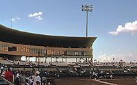 Ballparks: San Antonio Municipal Stadium. Grandstand and skyboxes.