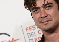 L'attore Riccardo Scamarcio fra posa durante il photocall per la presentazione del film 'Il ladro di giorni' alla 14^ Festa del Cinema di Roma all'Aufditorium Parco della Musica di Roma, 20 ottobre 2019.<br /> Italian actor Riccardo Scamarcio poses for the photocall to present the movie Il ladro di giorni' during the 14^ Rome Film Fest at Rome's Auditorium, on 20 October 2019.<br /> UPDATE IMAGES PRESS/Isabella Bonotto