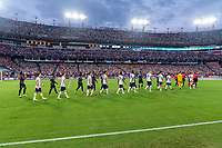 NASHVILLE, TN - SEPTEMBER 5: The United States walks on the field during a game between Canada and USMNT at Nissan Stadium on September 5, 2021 in Nashville, Tennessee.